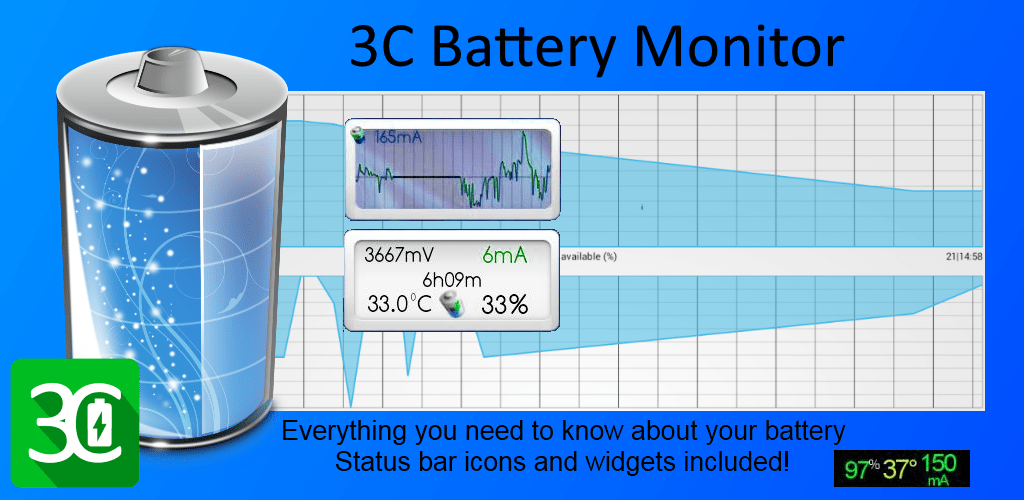 3C Battery Monitor Widget Pro 2